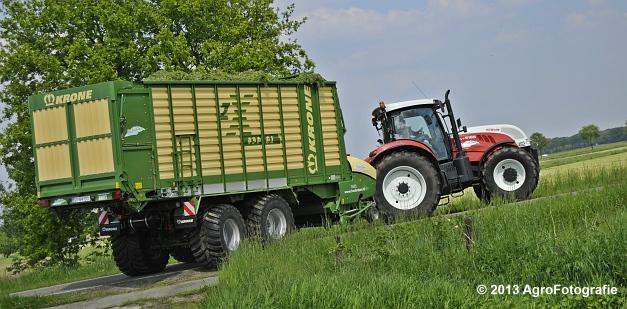 Steyr CVT 6185 + Krone ZX 450 GL (12)