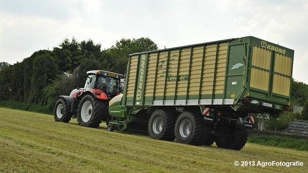 Steyr CVT 6185 + Krone ZX 450 GL (14)
