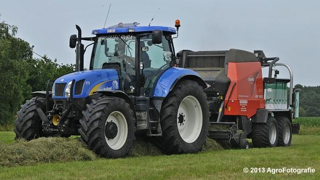 New Holland T6080 + Kuhn VBP 2160 (20)