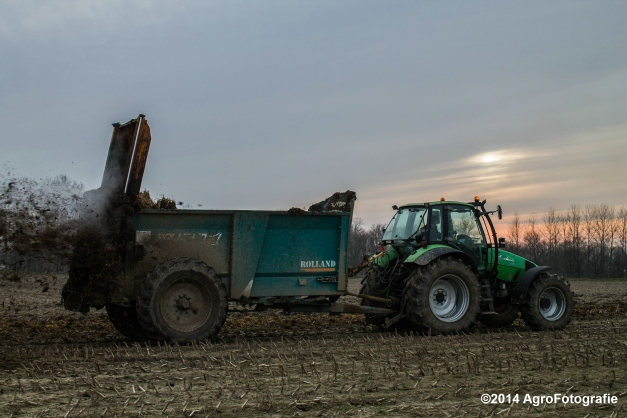 Deutz-Fahr Agrotron + Rolland-12