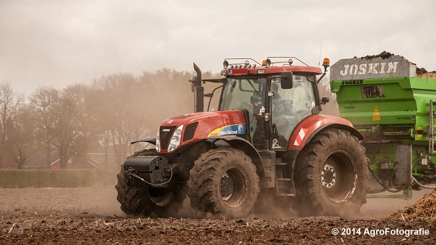 New Holland T7030 + Joskin Ferti-Space 7011 20U (Vanbuel) (1 van 15)