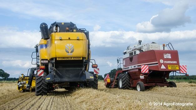 New Holland CX 7090 & Laverda 3650 (Vanbuel) (37 van 40)