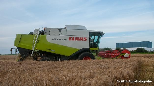 Claas LEXION 520 & New Holland CX 8040 (Hobin Travagri + Wauters) (13 van 20)
