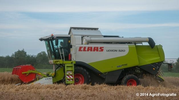 Claas LEXION 520 & New Holland CX 8040 (Hobin Travagri + Wauters) (16 van 20)