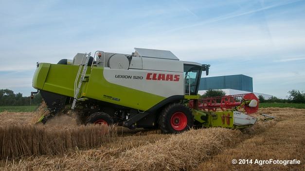 Claas LEXION 520 & New Holland CX 8040 (Hobin Travagri + Wauters) (4 van 20)