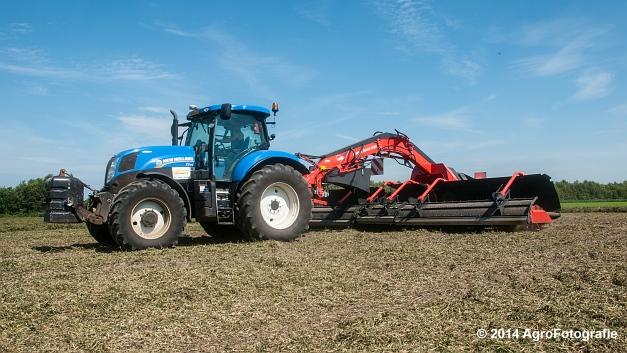 New Holland T7.170 + Kuhn Merge MAXX 900 (Van De Kruys) (21 van 22)