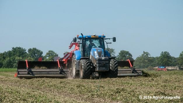 New Holland T7.170 + Kuhn Merge MAXX 900 (Van De Kruys) (7 van 22)