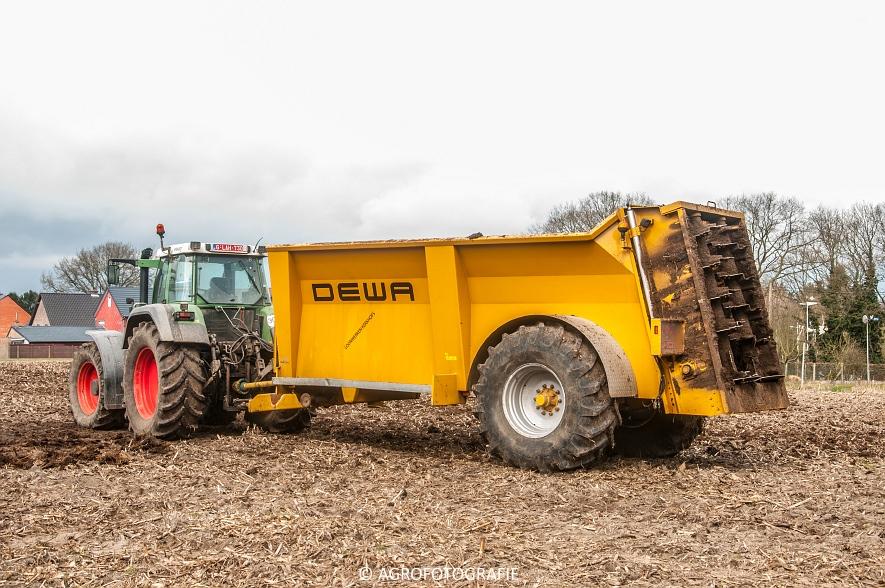 Fendt 916 + DEWA & Volvo L90E (stalmest, 21-03-2015) (2)