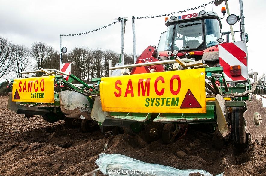 Massey Ferguson 7480 + SAMCO (Maïs onder folie, 21-03-2015, VDD Agri) (14)