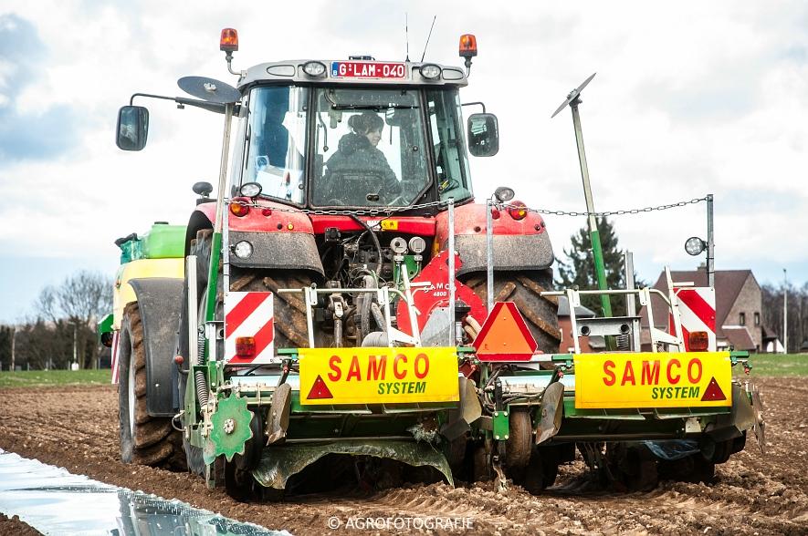 Massey Ferguson 7480 + SAMCO (Maïs onder folie, 21-03-2015, VDD Agri) (22)