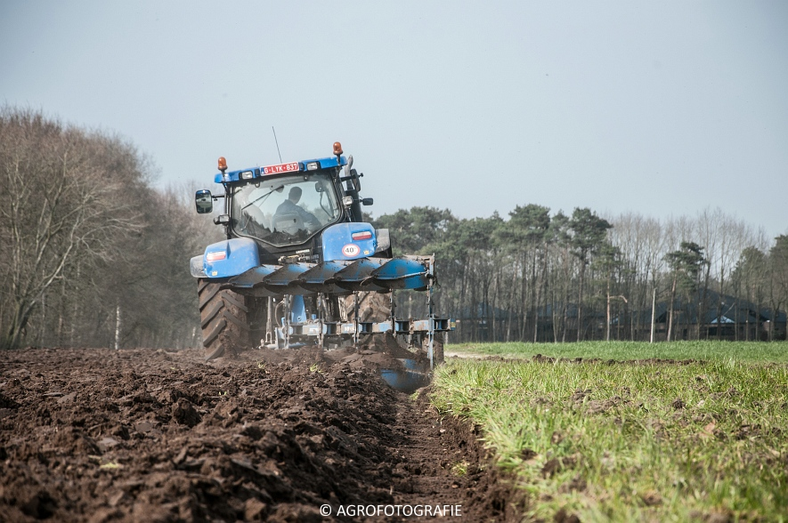 New Holland T7030 + Lemken (07-04-2015) (12 van 68)
