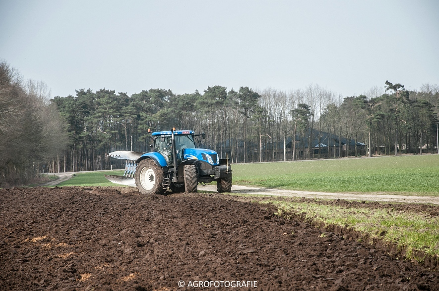 New Holland T7030 + Lemken (07-04-2015) (16 van 68)