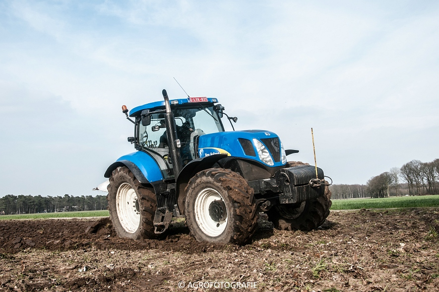 New Holland T7030 + Lemken (07-04-2015) (42 van 68)