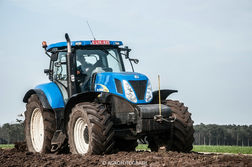 New Holland T7030 + Lemken (07-04-2015) (58 van 68)