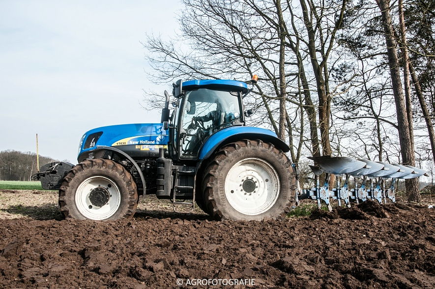 New Holland T7030 + Lemken (07-04-2015) (6 van 68)