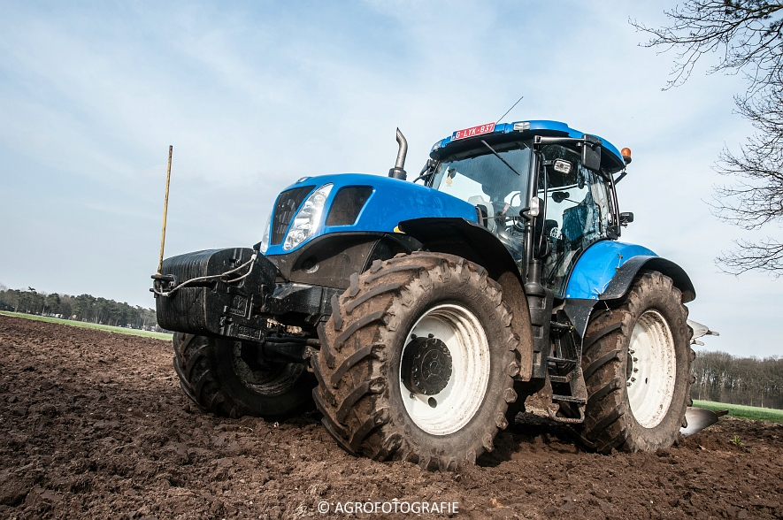 New Holland T7030 + Lemken (07-04-2015) (65 van 68)