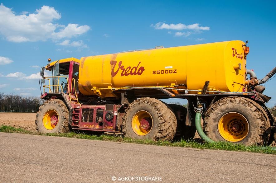 Vredo VT 3326 + 25000Z oplegger (Bouwland, 15-04-2015, Linsen) (41 van 42)