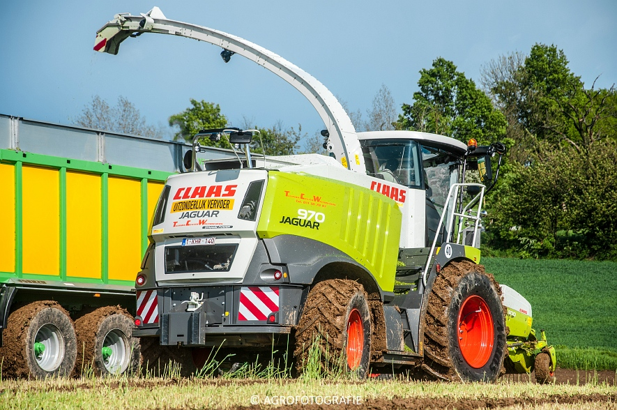 Claas Jaguar 970 + Fendt & Joskin (Rogge hakselen, 09-05-2015, Wintmolders) (38)