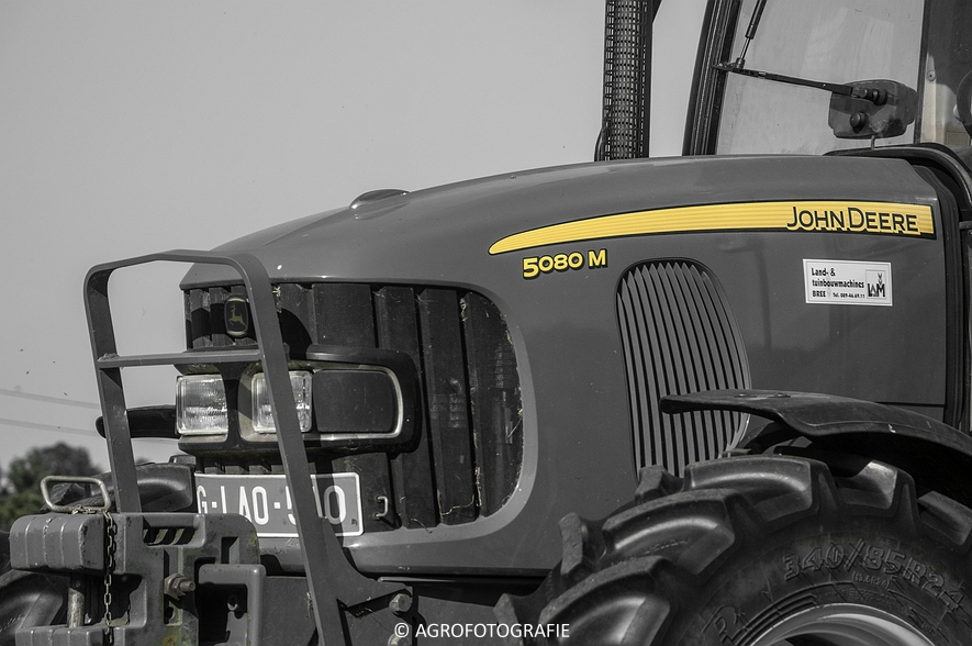John Deere 7530 + Krone Comprima V150 XC & John Deere 5080M (Harken, perswikkel, 04-06-2015) (13)