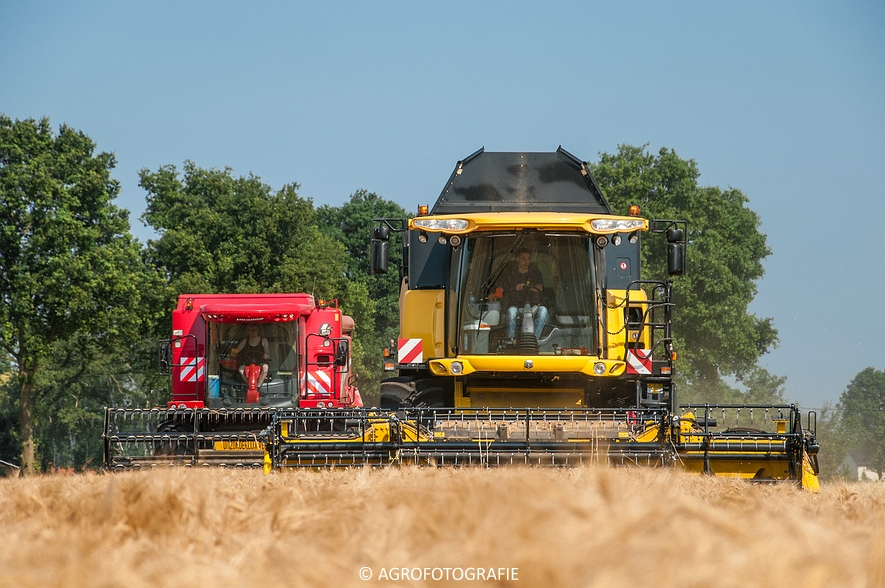 New Holland CX 7090 & Laverda M303 (Graan, 03-07-2015) (71)