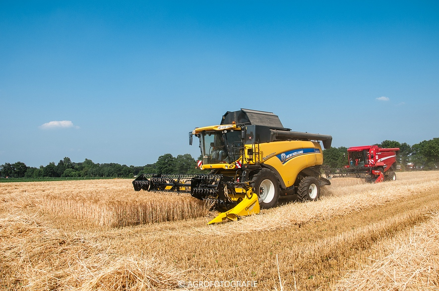 New Holland CX 7090 & Laverda M303 (Graan, 03-07-2015) (77)