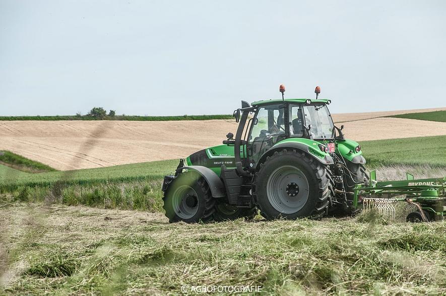 Deutz-Fahr Agrotron 6190 TTV + Krone KS 6-6.60 20 DUO (Harken, Everaert, 25-06-2015) (1 van 54)