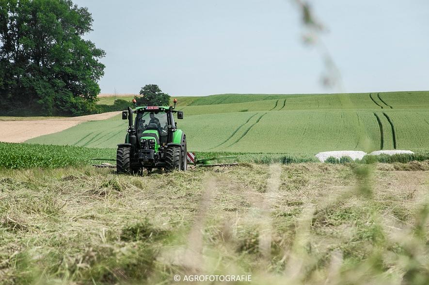Deutz-Fahr Agrotron 6190 TTV + Krone KS 6-6.60 20 DUO (Harken, Everaert, 25-06-2015) (3 van 54)