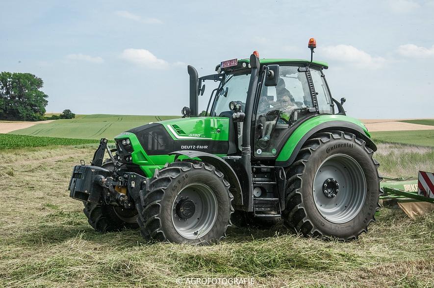 Deutz-Fahr Agrotron 6190 TTV + Krone KS 6-6.60 20 DUO (Harken, Everaert, 25-06-2015) (36 van 54)