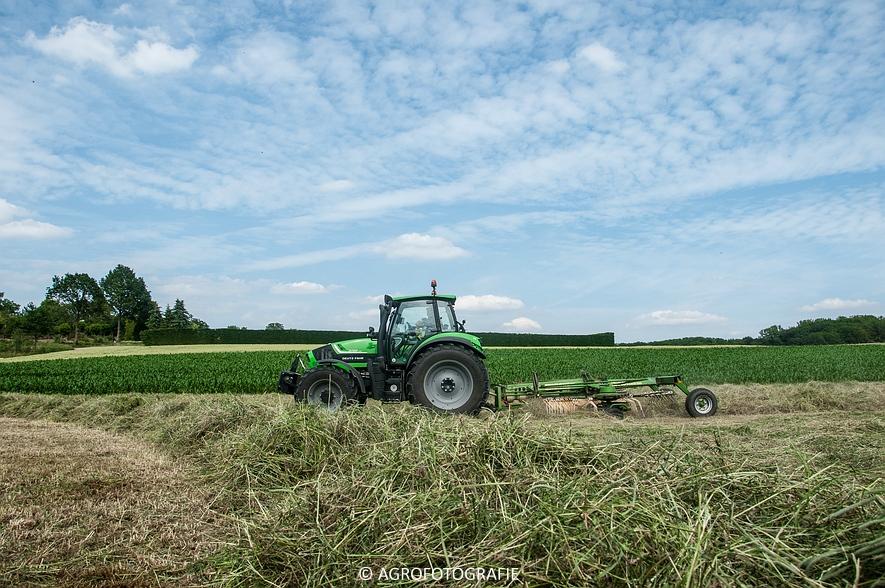 Deutz-Fahr Agrotron 6190 TTV + Krone KS 6-6.60 20 DUO (Harken, Everaert, 25-06-2015) (53 van 54)