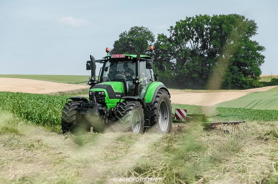 Deutz-Fahr Agrotron 6190 TTV + Krone KS 6-6.60 20 DUO (Harken, Everaert, 25-06-2015) (6 van 54)
