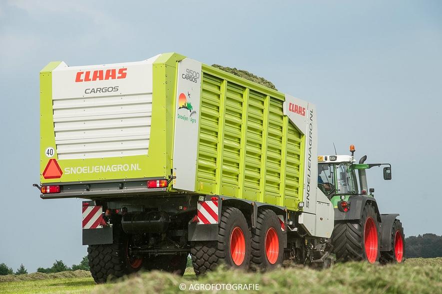 Fendt 820 + Claas Cargos 9500 (Snoeijen Agro, 12-08-2015) (27 van 50)