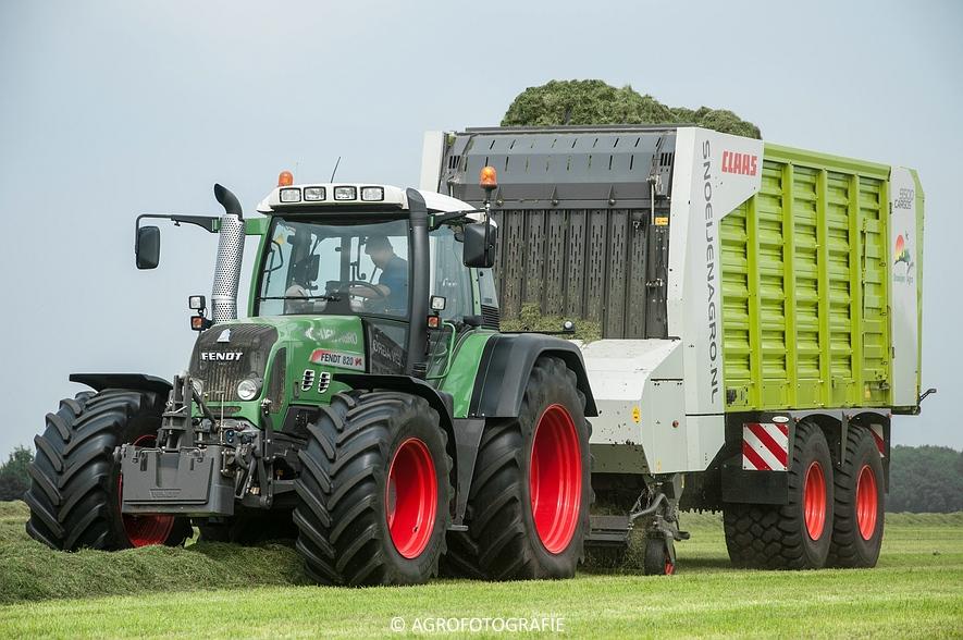Fendt 820 + Claas Cargos 9500 (Snoeijen Agro, 12-08-2015) (6 van 50)