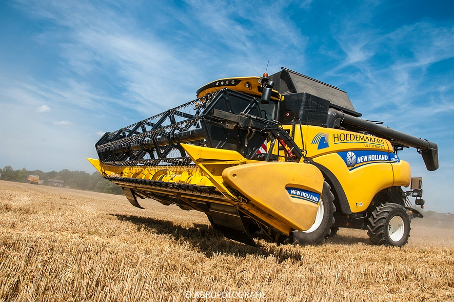 New Holland CR 8.80 + Fendt (Graan, 01-08-2015, Hoedemakers) (51 van 134)
