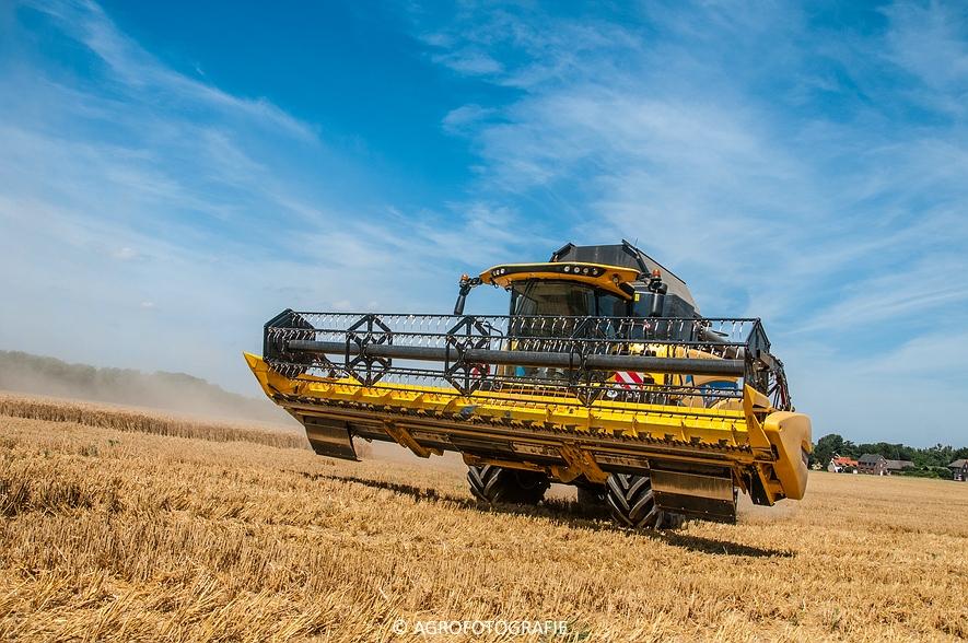 New Holland CR 8.80 + Fendt (Graan, 01-08-2015, Hoedemakers) (92 van 134)