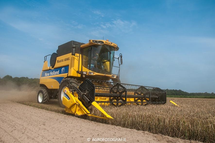 New Holland CSX 7050 (Graan, 12-08-2015, Maas BV) (27 van 31)