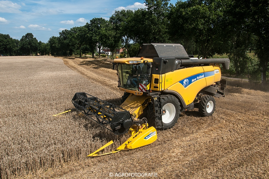 New Holland CX 8050 & New Holland Clayson 8070 (Graan, 31-07-2015) (85 van 165)