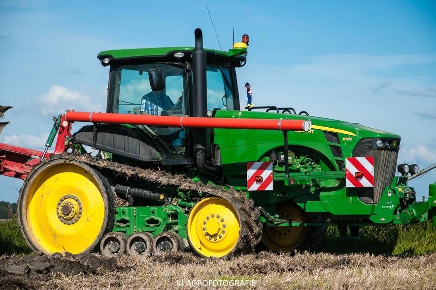 John Deere 8295 RT + Kverneland LD 100 Vario (Ploegen, 10-09-2015, Waalkens) (18 van 45)