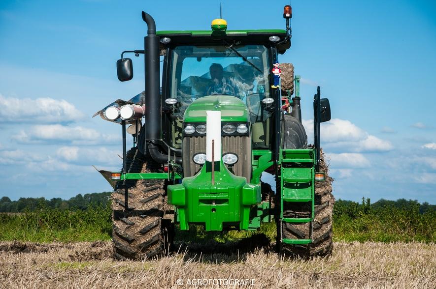 John Deere 8295 RT + Kverneland LD 100 Vario (Ploegen, 10-09-2015, Waalkens) (22 van 45)