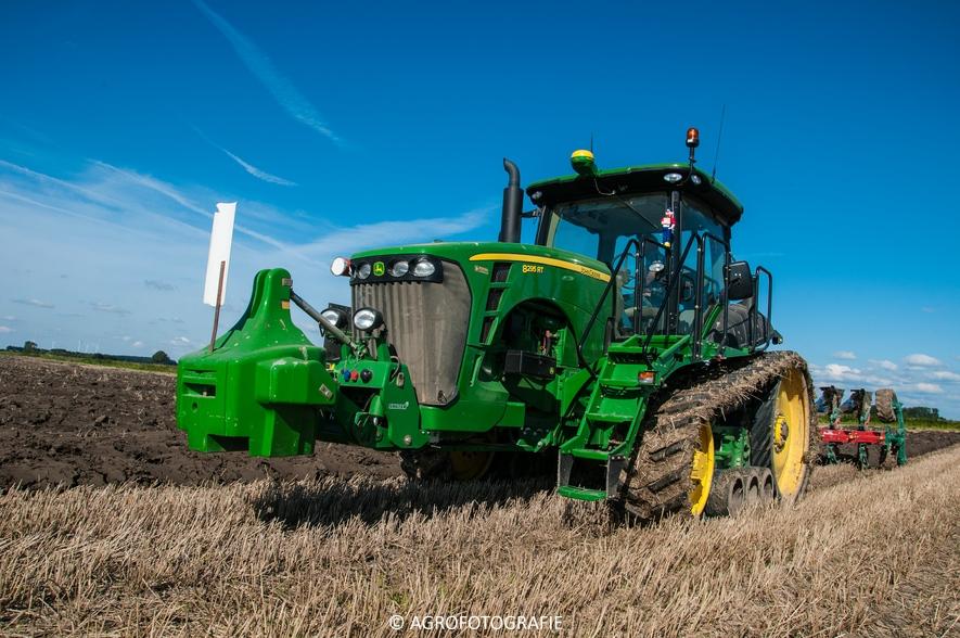John Deere 8295 RT + Kverneland LD 100 Vario (Ploegen, 10-09-2015, Waalkens) (36 van 45)