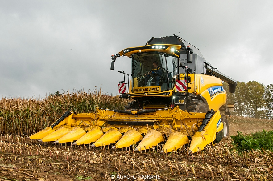 Demo New Holland FR 650 & CR8.80 (Loverjoel, 25-10-2015) (100)