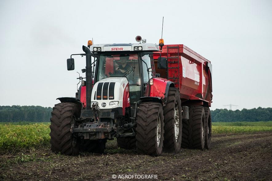 Case IH 175 CVX & Steyr + Grimme SE 150-60 (Aardappelen rooien, Sandee, 10-09-2015) (15 van 60)