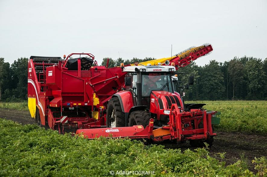 Case IH 175 CVX & Steyr + Grimme SE 150-60 (Aardappelen rooien, Sandee, 10-09-2015) (20 van 60)