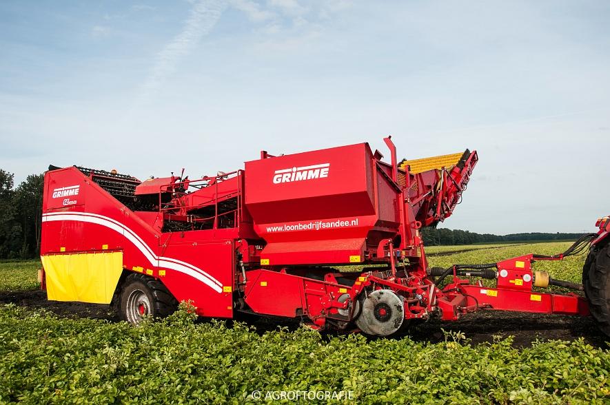 Case IH 175 CVX & Steyr + Grimme SE 150-60 (Aardappelen rooien, Sandee, 10-09-2015) (42 van 60)