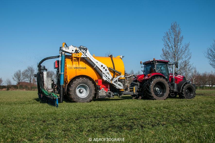 Case IH Puma 240 CVX + VMR Veenhuis (Grasland, 29-02-2016, Bart Sprangers) (15 van 65) agrofotografie
