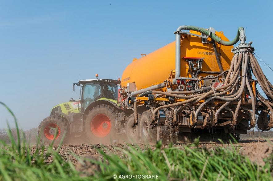 Claas Arion 850 + VMR Veenhuis (Bouwland, De Boer, 11-04-2016) (42 van 45)