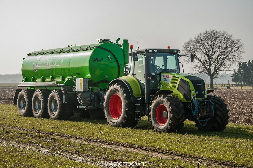 Claas Axion 850 & 810 + Joskin Cargo 26000 (ketsplaat, 12-03-2016, Haveneers) (1 van 46)