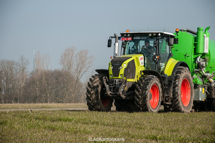 Claas Axion 850 & 810 + Joskin Cargo 26000 (ketsplaat, 12-03-2016, Haveneers) (10 van 46)