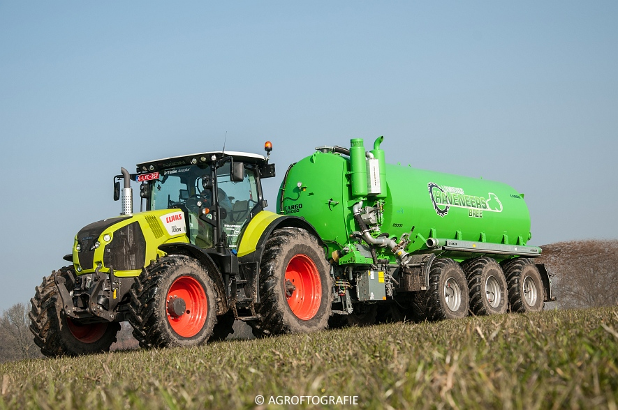 Claas Axion 850 & 810 + Joskin Cargo 26000 (ketsplaat, 12-03-2016, Haveneers) (12 van 46)