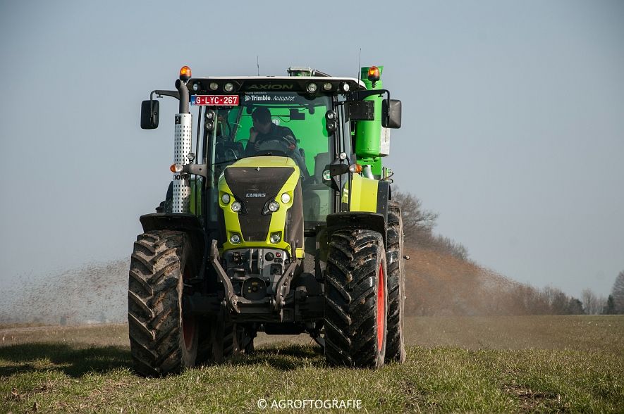Claas Axion 850 & 810 + Joskin Cargo 26000 (ketsplaat, 12-03-2016, Haveneers) (19 van 46)