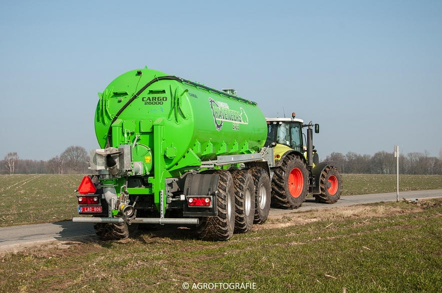 Claas Axion 850 & 810 + Joskin Cargo 26000 (ketsplaat, 12-03-2016, Haveneers) (2 van 46)
